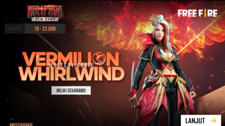 event free fire terbaru 2021 Mystery Crate FF Vermilion Whirlwind