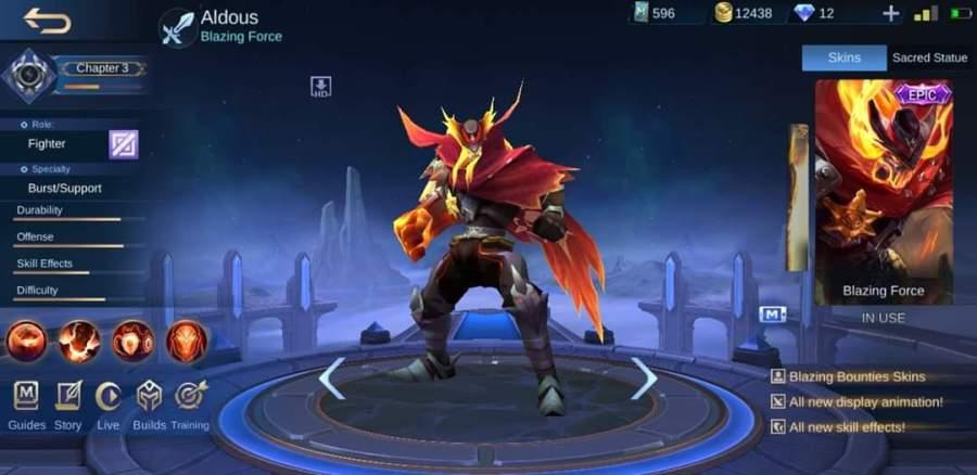 skin Mobile Legends Skin Blazing Force Milik Aldous